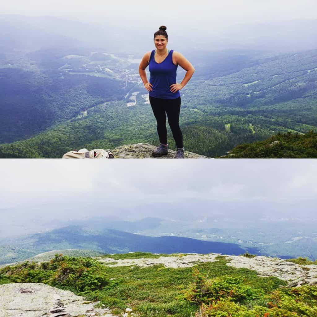 Nicole Torrey on Mount Mansfield